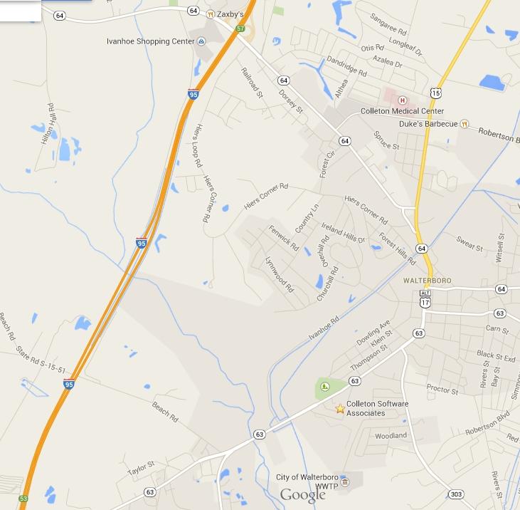 Colleton Map